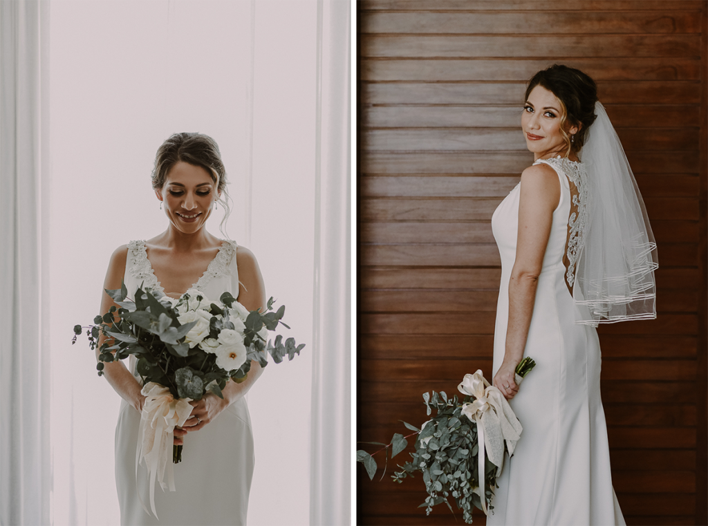 Bridal portraits with natural light at Heritage Fairmont Mayakoba, Mexico by Caro Navarro Photography