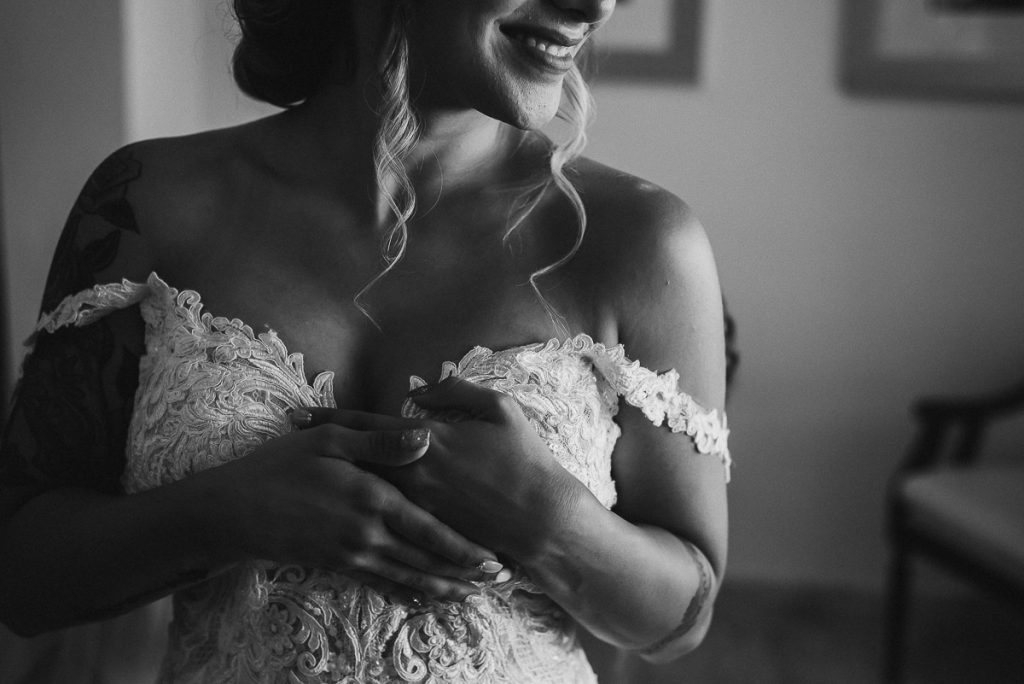 Black and white bridal portraits at Now Sapphire Riviera Cancun Wedding by Caro Navarro Photography