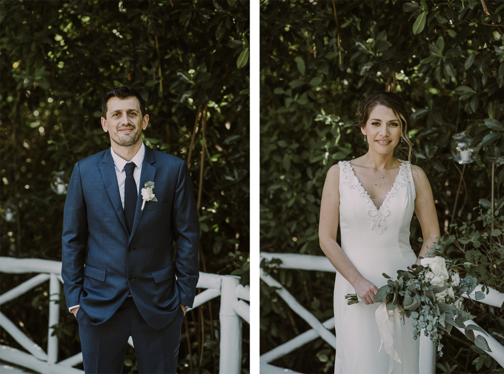Bride and groom portraits at Banyan Tree Mayakoba, Mexico by Caro Navarro Photography