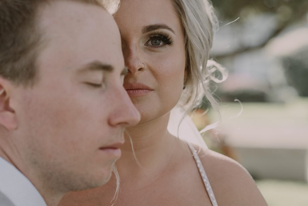 Bride and groom portraits. Moon Palace wedding  by Caro Navarro Photography