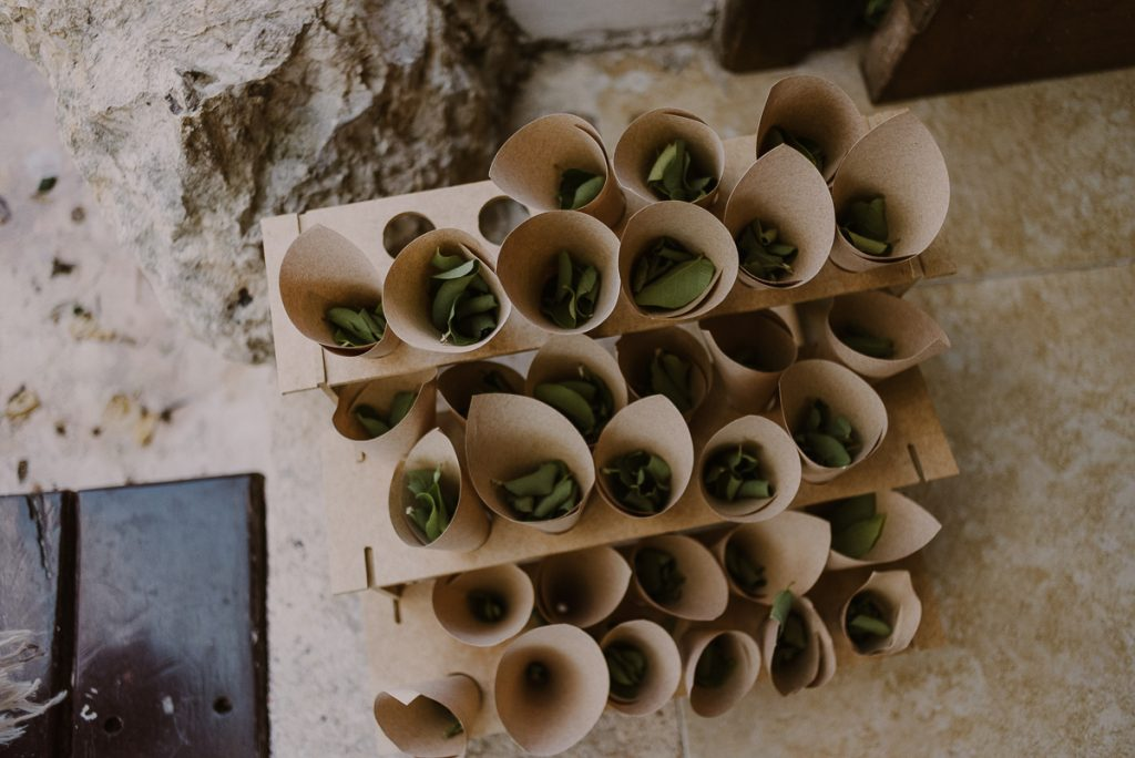 Eco-friendly petals at Playa del Carmen Wedding by Caro Navarro Photography