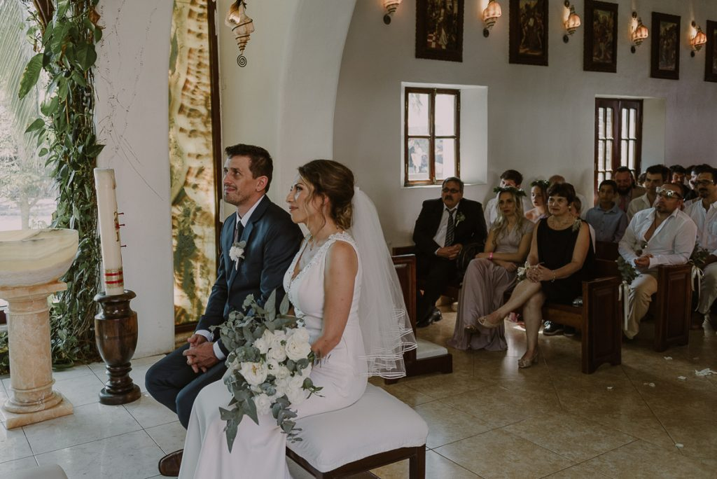Catholic Wedding at Nuestra Señora del Carmen, Playa del Carmen. Caro Navarro Photography