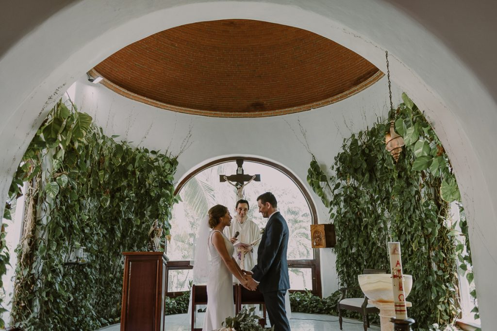 Church wedding in Playa del Carmen, Mexico by Caro Navarro Photography