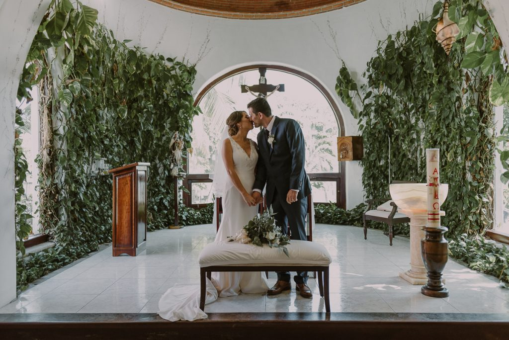 You may kiss the bride. Playa del Carmen Destination Wedding by Caro Navarro Photography