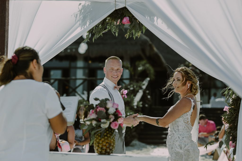 Boho Now Sapphire Beach Wedding in Mexico by Caro Navarro Photography