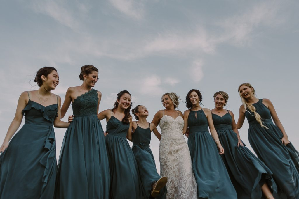 Fun bridal party portraits by Caro Navarro Cancun Wedding Photography