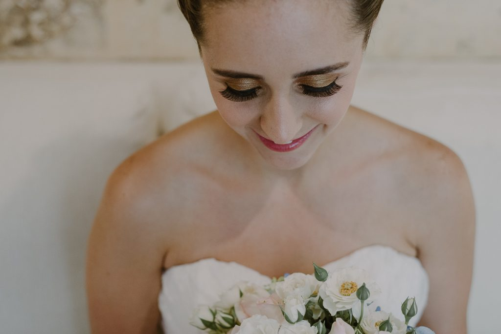 Destination bride makeup at Jardin del Mar, Riviera Maya, Mexico. Caro Navarro Wedding Photography