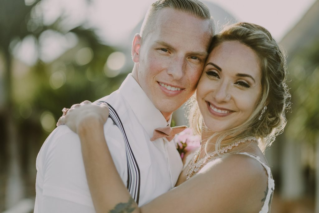 Bride and groom portraits at Now Sapphire Wedding in Mexico. Caro Navarro Photography