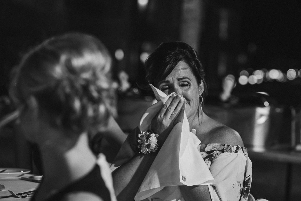 Emotional mother of the bride at Moon Palace Nizuc Cancun Wedding by Caro Navarro Photography