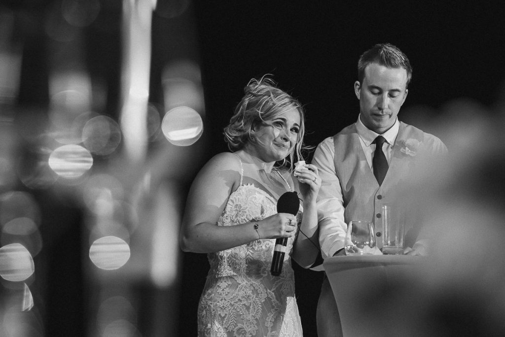 Wedding speeches at Moon Palace Nizuc reception. Caro Navarro Photography