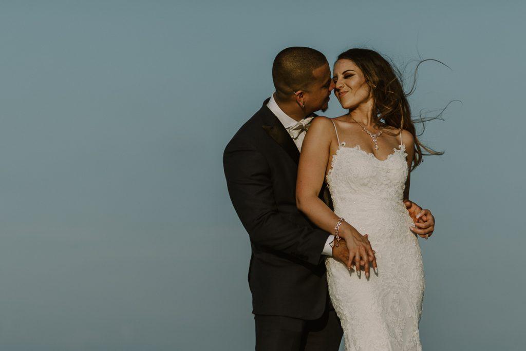Bride and groom portraits. Riu Caribe wedding by Caro Navarro Photography