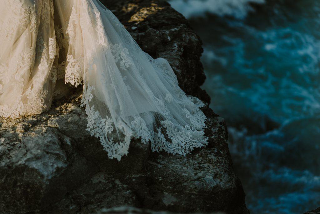 Wedding dress detail. Riu Caribe Cancun destination wedding by Caro Navarro Photography