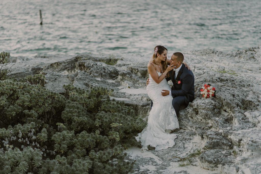 Bride and groom portraits. Riu Caribe destination wedding by Caro Navarro Photography