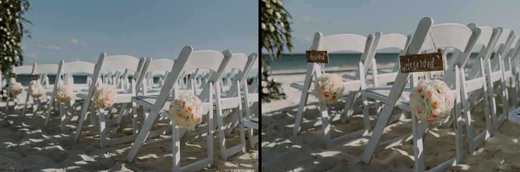 Aisle flowers and decor at Royalton Riviera Cancun, Mexico. Caro Navarro Wedding Photography