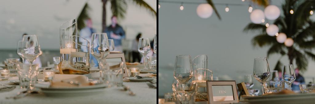 Beach wedding reception at Royalton Riviera Cancun, Mexico. Caro Navarro Photography