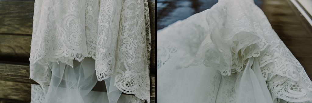 Details of wedding dress lace at Royalton Riviera Cancun Wedding. Caro Navarro Photography