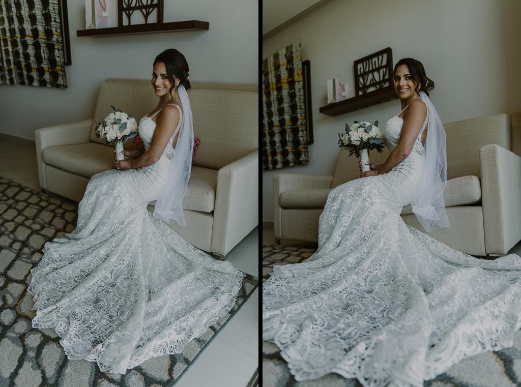 Bridal portraits at Royalton Riviera Cancun Wedding by Caro Navarro Photography