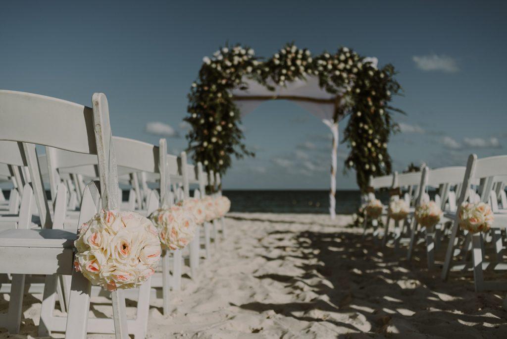 Royalton Riviera Cancun Beach wedding decor by Caro Navarro Photography