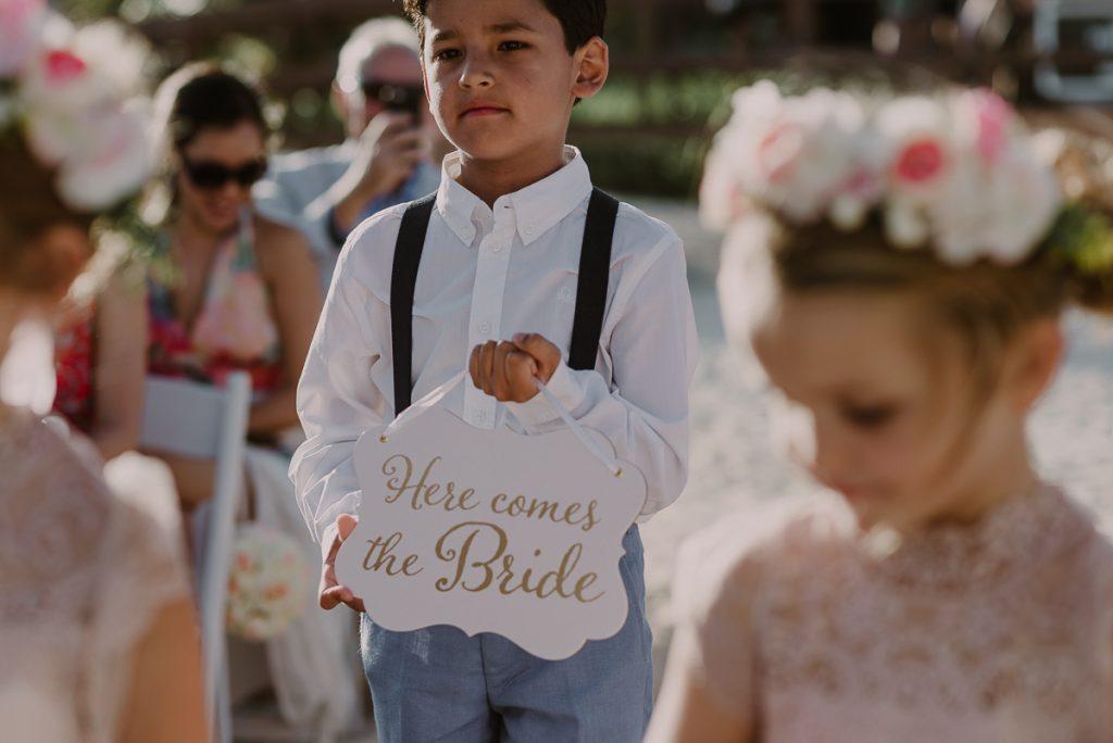 Kids at weddings by Caro Navarro Photography at Royalton Riviera Cancun