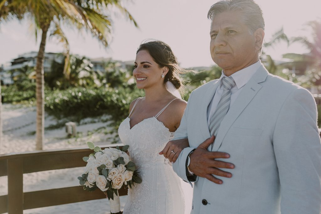 Here comes the bride. Royalton Riviera Cancun Wedding by Caro Navarro Photography
