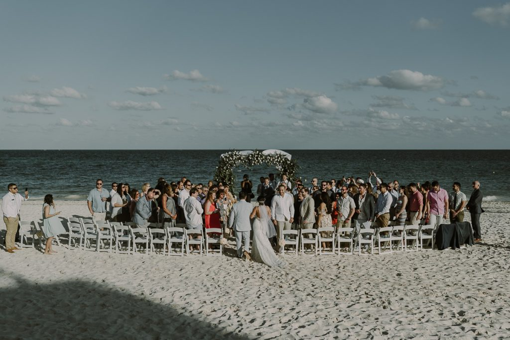 Royalton Riviera Cancun beach wedding in Mexico by Caro Navarro Photography