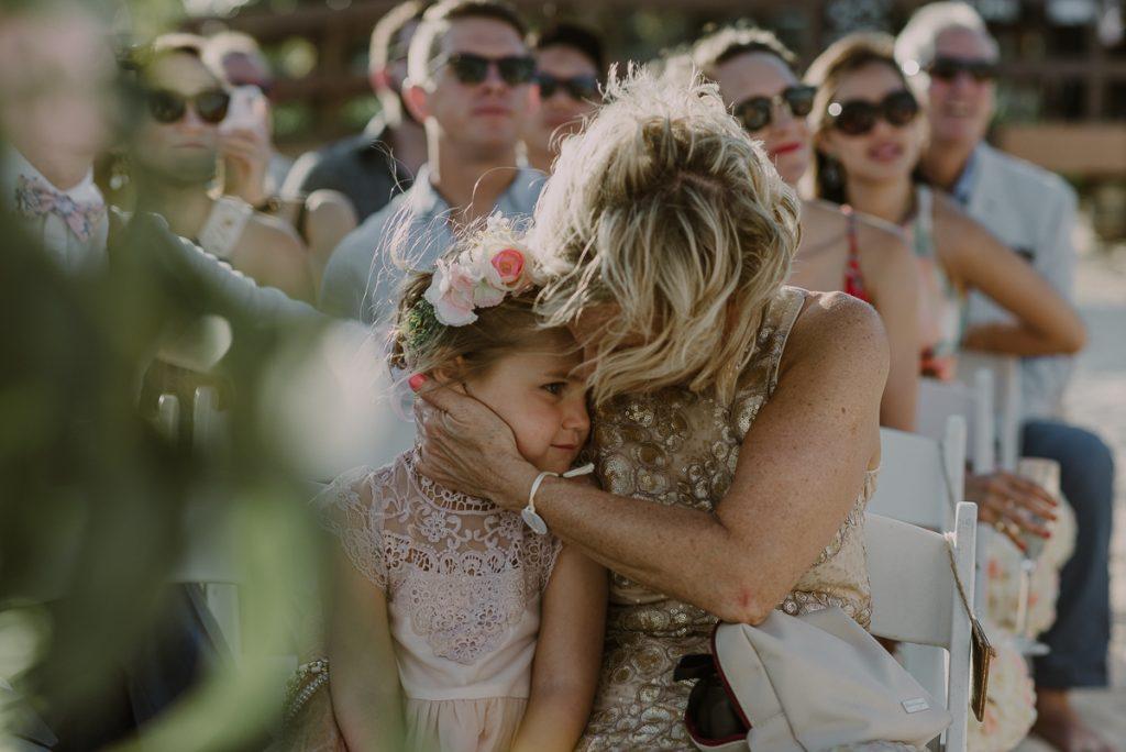 Flower girl at Royalton Riviera Cancun beach wedding Caro Navarro Photography