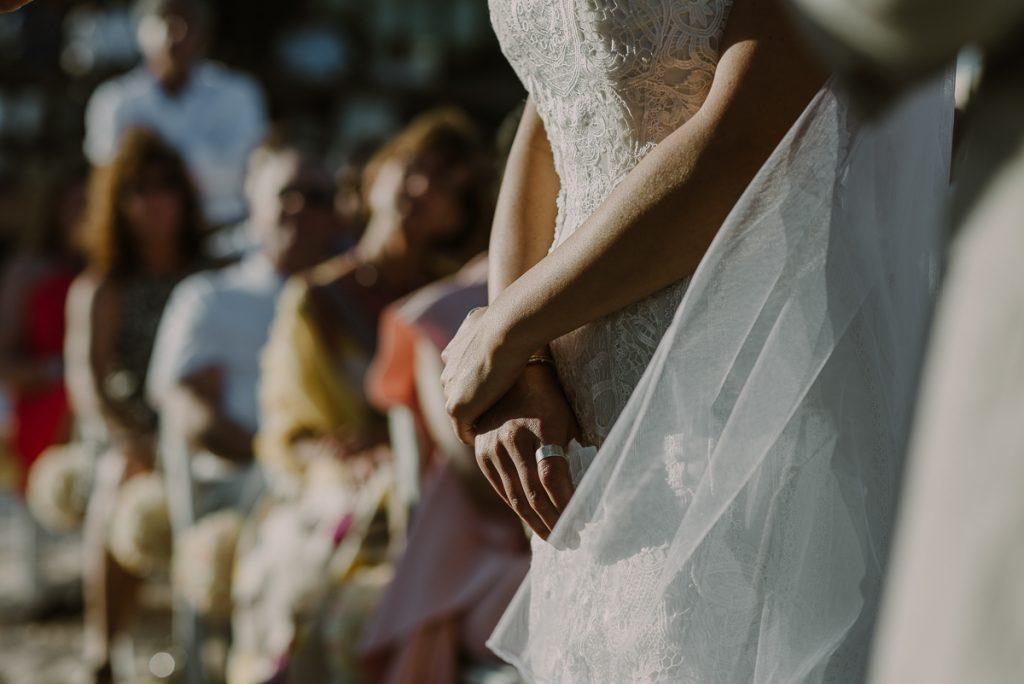 Wedding dress detail. Royalton Riviera Cancun Wedding by Caro Navarro Photography