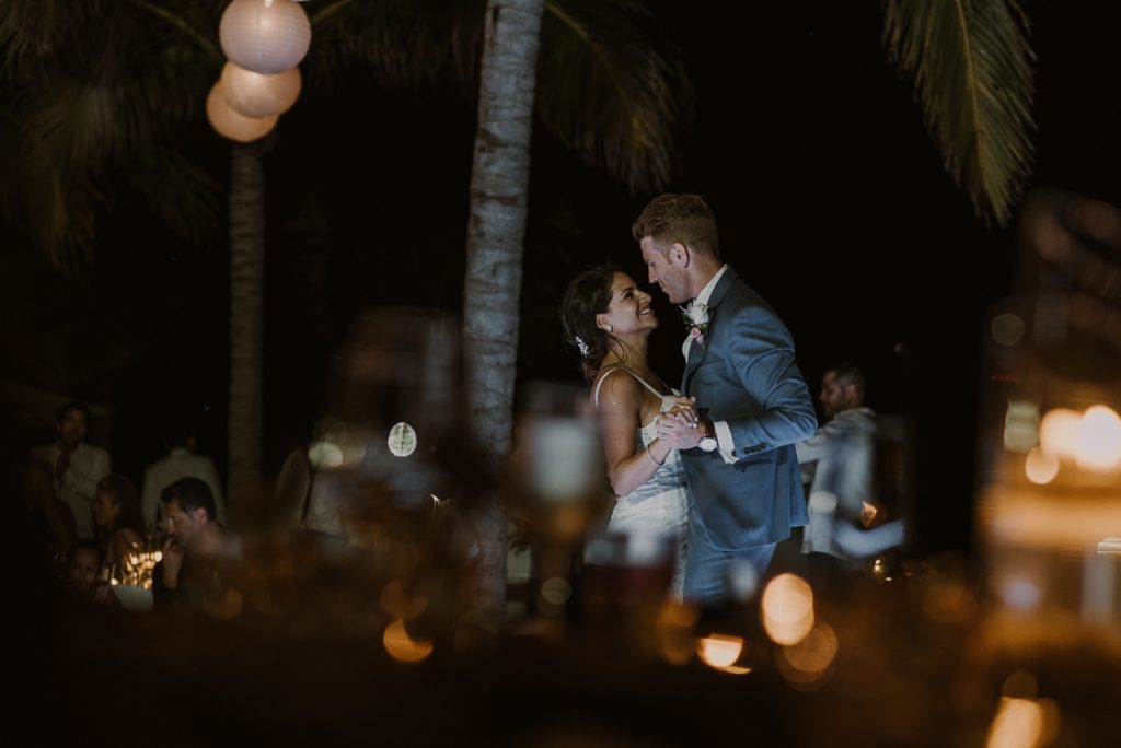 Bride and groom first dance. Royalton Riviera Cancun wedding by Caro Navarro Photography