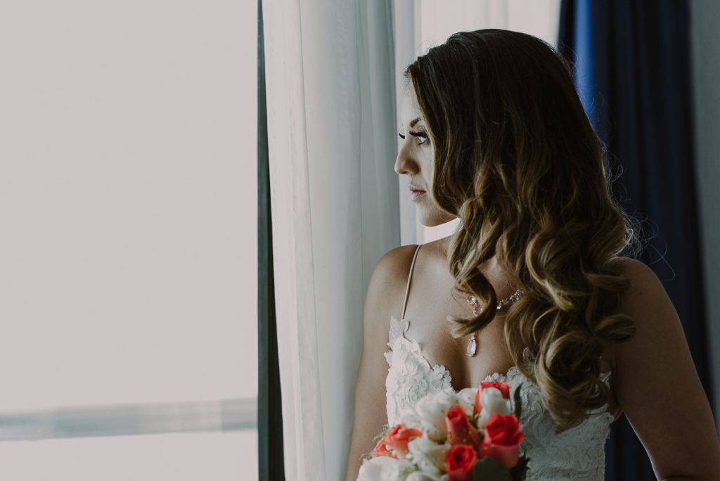 Bridal portraits at Riu Caribe Cancun Wedding by Caro Navarro Photography