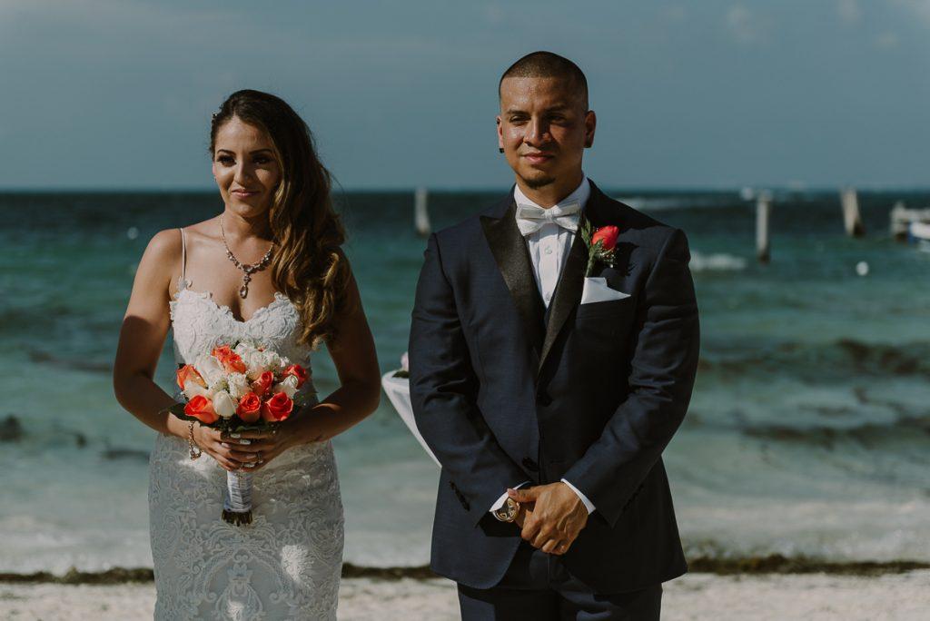 Riu Caribe Cancun beach destination wedding by Caro Navarro Photography