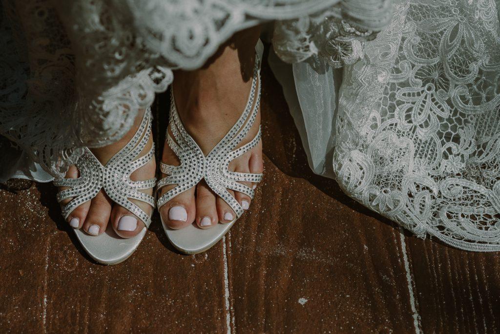 Bridal shoes. Royalton Riviera Cancun Destination Wedding by Caro Navarro Photography