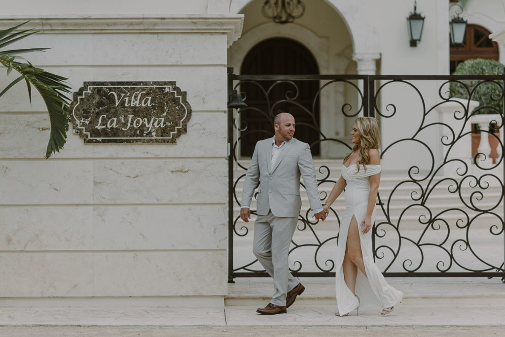 Villa La Joya Riviera Maya Engagement Session by Caro Navarro Mexico Wedding Photography